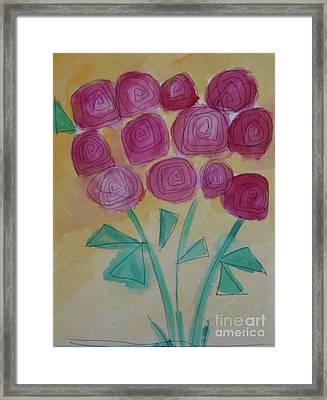 Randi's Roses Framed Print by Kim Nelson