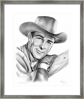 Randolph Scott Framed Print by Greg Joens