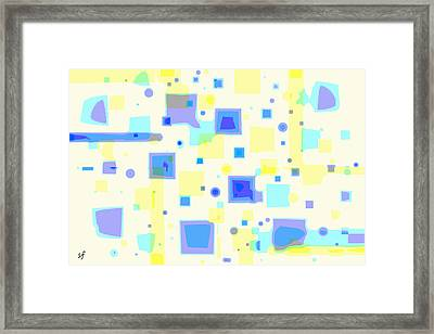 Framed Print featuring the digital art Random Blips by Shelli Fitzpatrick
