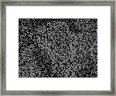 Random Curves - Black Framed Print