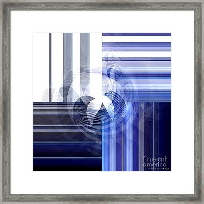 Random Geometric Framed Print