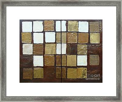 Framed Print featuring the painting Random Imperfection by Phyllis Howard