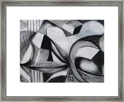 Random Shapes Framed Print