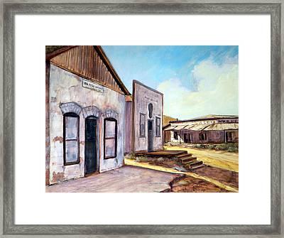 Randsburg California Framed Print by Evelyne Boynton Grierson