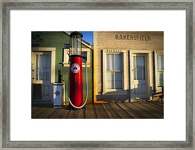 Randsburg Pump Framed Print by Mike Hill