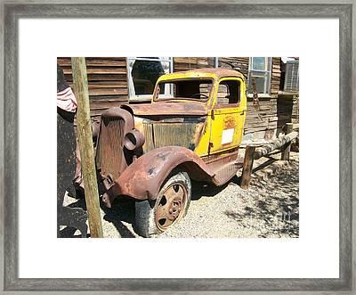 Randsburg Truck  Framed Print