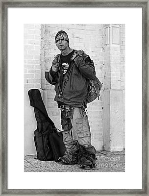 Randy Between Gigs Framed Print