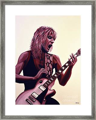 Randy Rhoads Framed Print by Paul Meijering