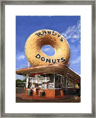 Randy's Donuts Framed Print by Russell Pierce