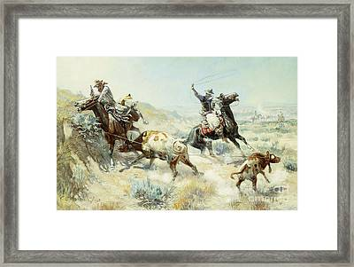 Range Mother Framed Print by Charles Marion Russell