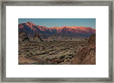Framed Print featuring the photograph Range Of Light II by Stuart Gordon