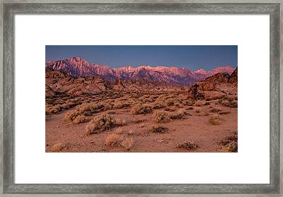 Framed Print featuring the photograph Range Of Light by Stuart Gordon