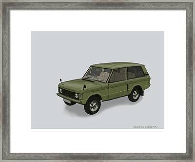 Framed Print featuring the mixed media Range Rover Classical 1970 by TortureLord Art