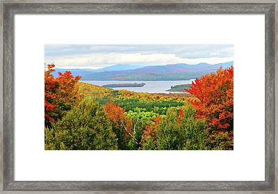 Rangeley Lake And Rangeley Plantation Framed Print