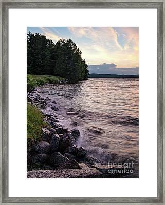 Rangeley Lake State Park In Rangeley Maine  -53215-53218 Framed Print