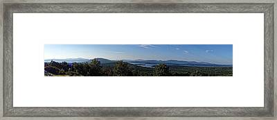 Rangeley Lake Sunset Panoramic Framed Print