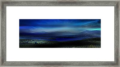Rangeley Magic Sunset Framed Print