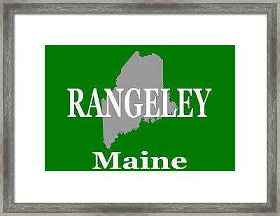 Rangeley Maine State City And Town Pride  Framed Print by Keith Webber Jr