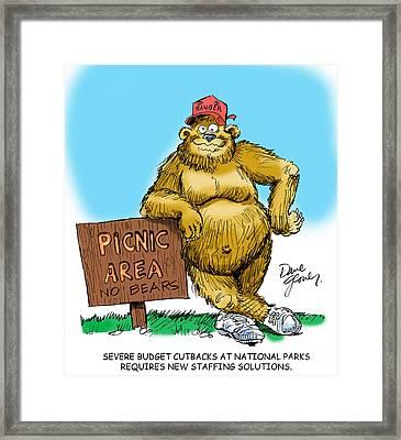Ranger Bear Framed Print by David Lloyd Glover