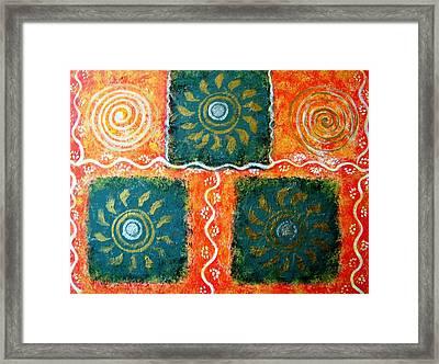 Rangoli Abstract Painting Framed Print