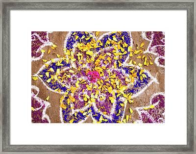 Rangoli Petals Framed Print