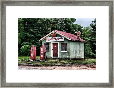 Rankins Grocery In Watercolor Framed Print