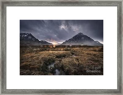 Rannoch Rain Framed Print by Rod McLean