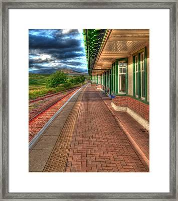 Rannoch Station Platform Framed Print by Chris Thaxter