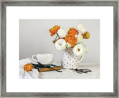 Ranunculus Bouquet Framed Print