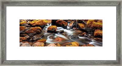 Roaring Fork Cascade - Indian Summer Framed Print by Stephen Stookey