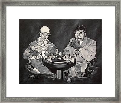 Raoul And Dr. Gonzo In Las Vegas Framed Print by Daniel Bergren