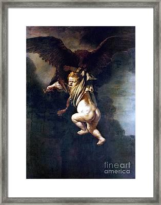 Rape Of Ganymede Framed Print