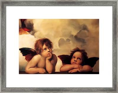 Raphael's Cherubs Framed Print by Bill Cannon