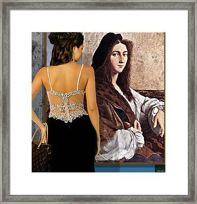 Raphael's Self-portrait, Portrait Of A Young Man, Private Gallery Along The Cote D Azur Framed Print by Thomas Pollart