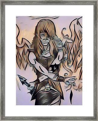Rapheal Angel Of Air Framed Print by Joshua Massenburg