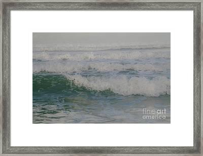 Rapid Waves Framed Print