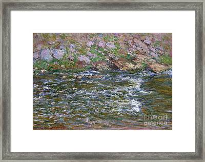 Rapids On The Petite Creuse At Fresselines, 1889 Framed Print by Claude Monet