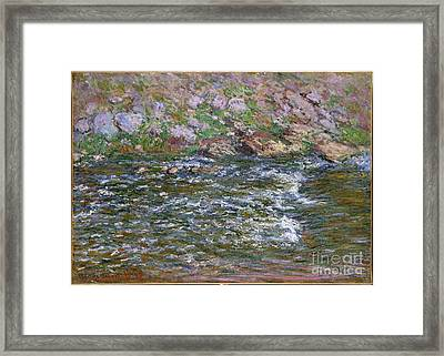 Rapids On The Petite Creuse At Fresselines Framed Print by Celestial Images