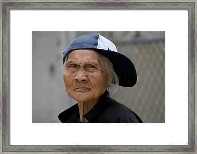 Rappin' Granny Framed Print by Jason Hochman