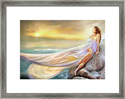 Rapture In Midst Of The Sea Framed Print