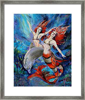 Rapture Framed Print by Karon Melillo DeVega
