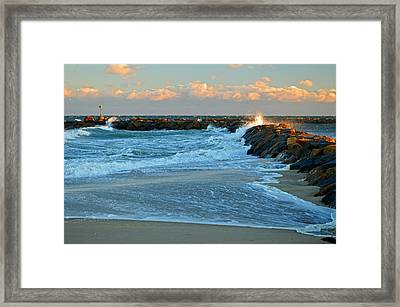 Rapture On Cape Cod Bay Framed Print by Dianne Cowen