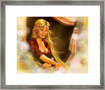 Rapunzel Framed Print