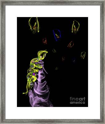 Rapunzel's Magic Flower Braid Framed Print