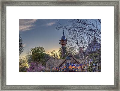 Rapunzel's Tower At Sunset Framed Print