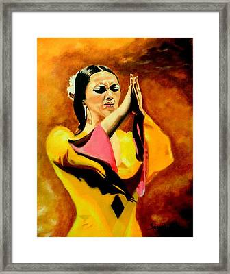 Raquel Heredia - Flamenco Dancer Sold Framed Print
