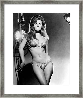 Raquel Welch, Portrait From The Film Framed Print by Everett