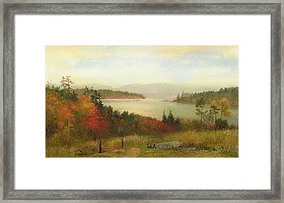 Raquette Lake Framed Print by Homer Dodge Martin