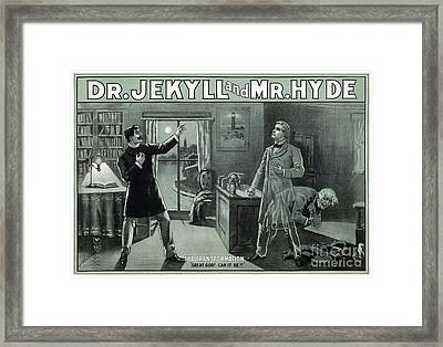 Rare Dr. Jekyll And Mr. Hyde Transformation Poster Framed Print