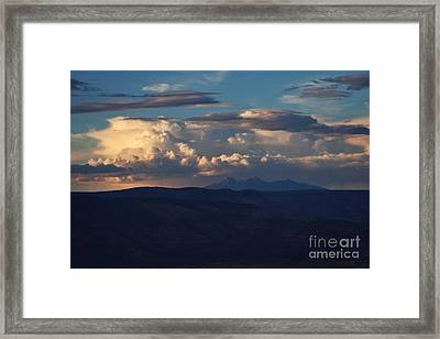 Framed Print featuring the photograph Rare June Storm Glow San Francisco Peaks by Ron Chilston